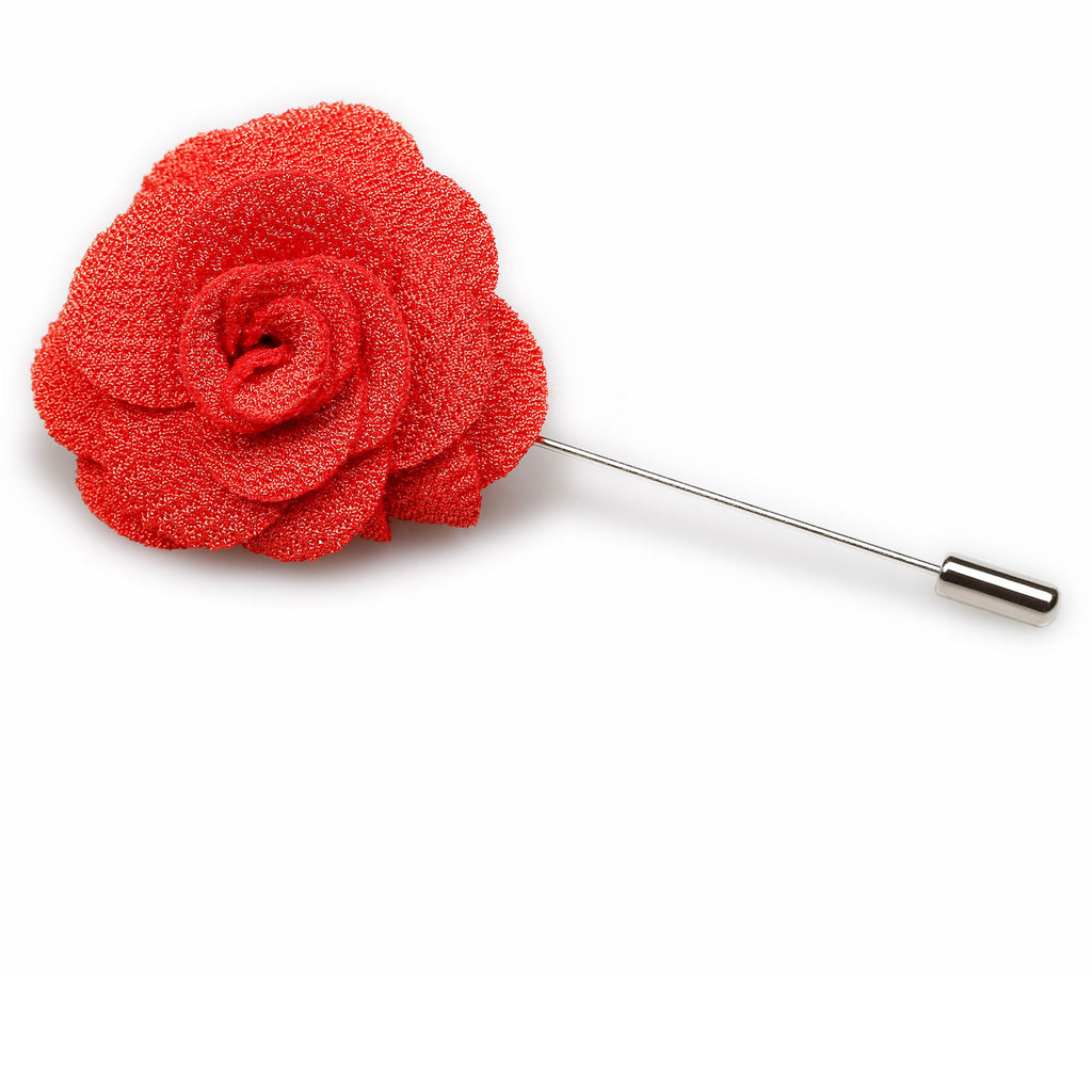 Royal Red Lapel Flower