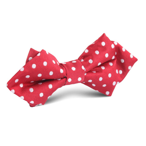 Royal Red Polka Dots Diamond Bow Tie
