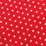 Royal Red Polka Dots Fabric Skinny Tie X726