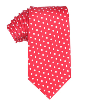 Royal Red Polka Dots Necktie