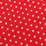 Royal Red Polka Dots Necktie Fabric