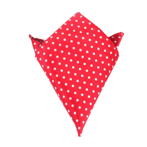 Royal Red Polka Dots Pocket Square