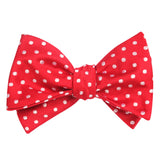 Royal Red Polka Dots Self Tie Bow Tie Self tied knot by OTAA