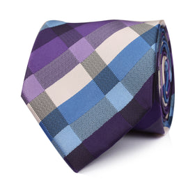 Royal Violet Checkered Necktie