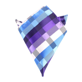 Royal Violet Checkered Pocket Square