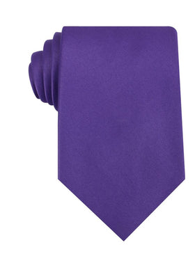 Royal Violet Purple Satin Necktie