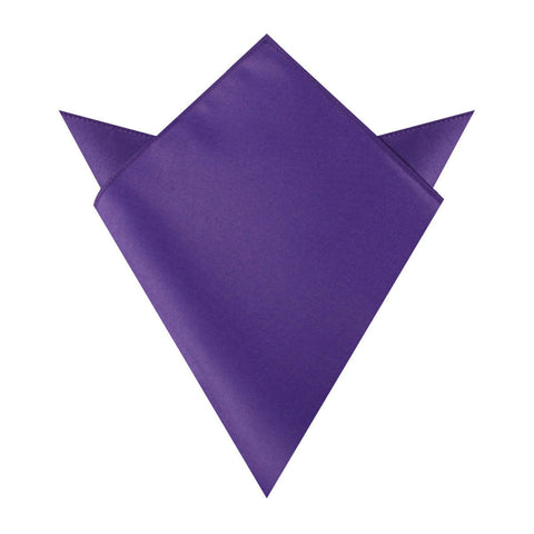 Royal Violet Purple Satin Pocket Square