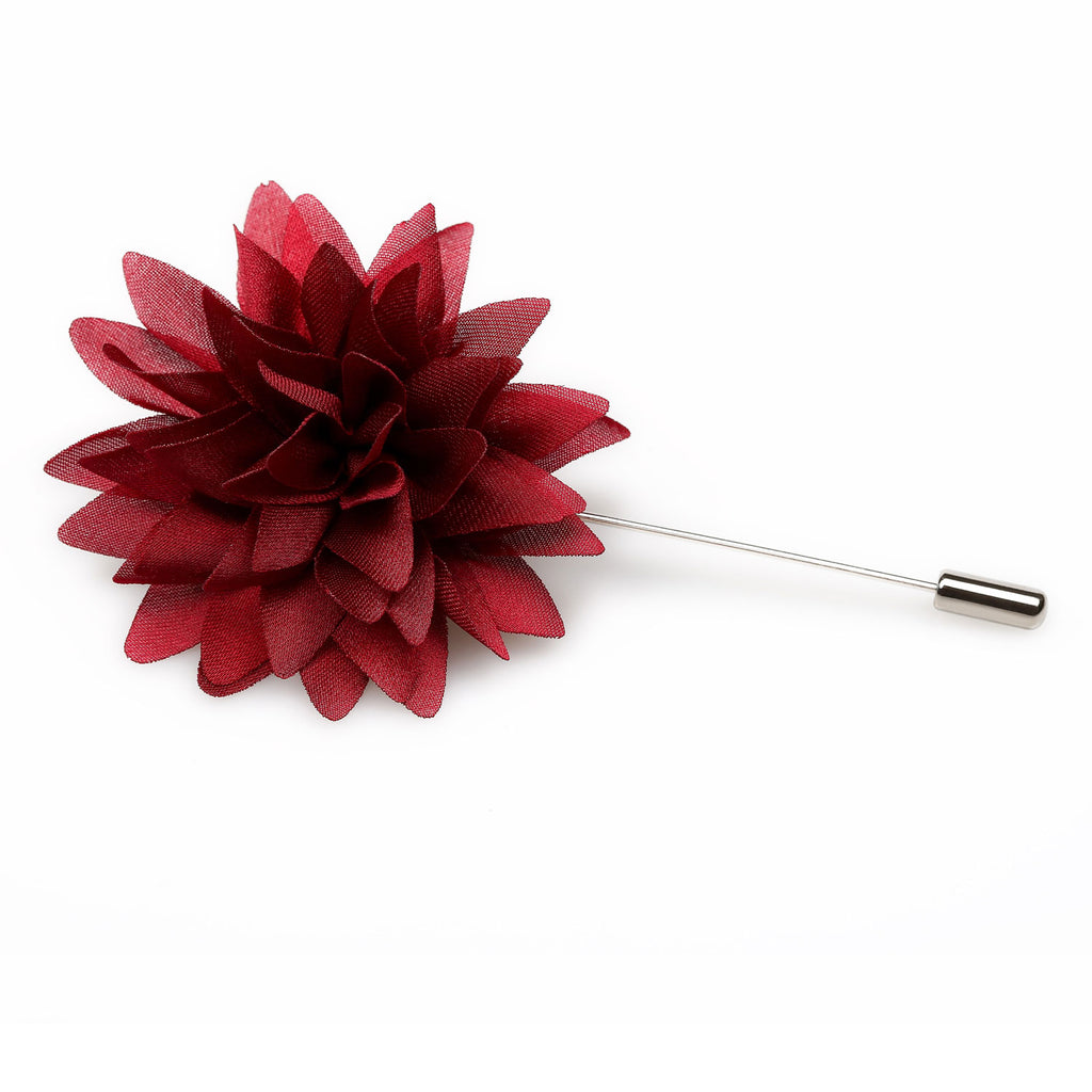 Royale Burgundy Lapel Flower