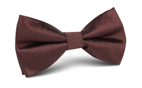 Russet Brown Herringbone Bow Tie