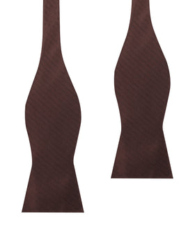 Russet Brown Herringbone Self Bow Tie
