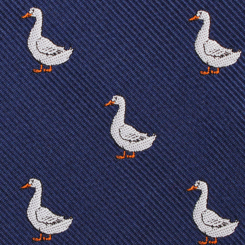 Russian White Goose Bow Tie