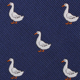 Russian White Goose Fabric Skinny Tie