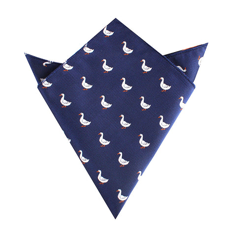 Russian White Goose Pocket Square