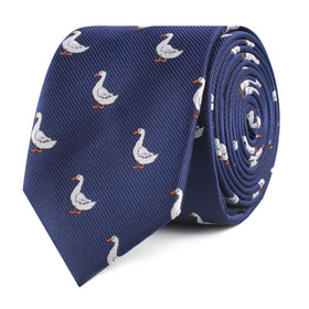 Russian White Goose Skinny Tie