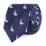Russian White Goose Slim Tie