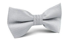 Rustic Light Gray Oxford Weave Bow Tie
