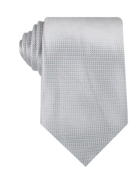 Rustic Light Gray Oxford Weave Necktie