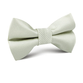 Sage Green Basket Weave Kids Bow Tie