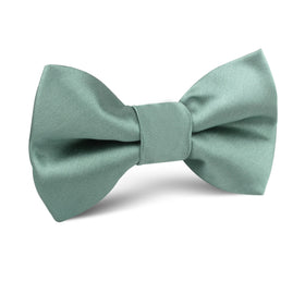 Sage Green Satin Kids Bow Tie