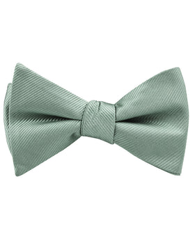 Sage Green Twill Self Bow Tie