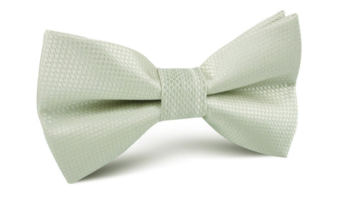 Sage Green Basket Weave Bow Tie
