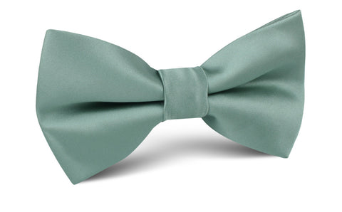 Sage Green Satin Bow Tie