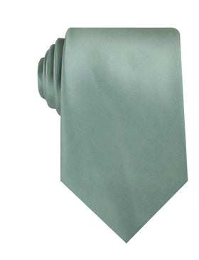 Sage Green Satin Necktie