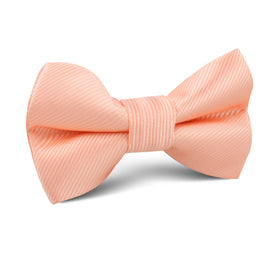 Salmon Frosty Pink Twill Kids Bow Tie