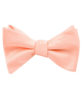 Salmon Frosty Pink Twill Self Bow Tie