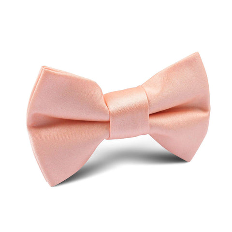 Salmon Satin Kids Bow Tie