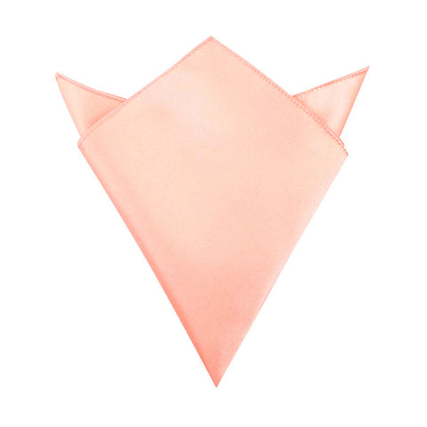 Salmon Satin Pocket Square
