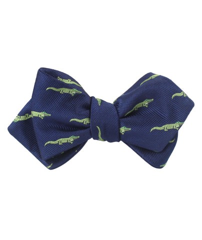 Saltwater Crocodile Diamond Self Bow Tie