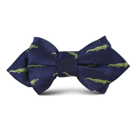 Saltwater Crocodile Kids Diamond Bow Tie