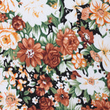 San Pietro Orange Floral Fabric Self Bowtie