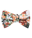 San Pietro Orange Floral Self Tied Bowtie
