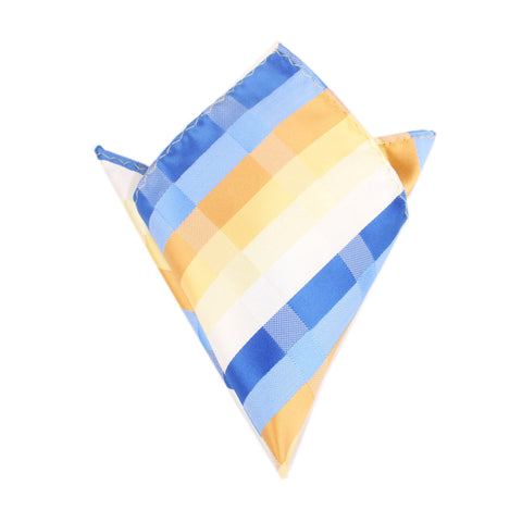 Sandy Checkered Pocket Square