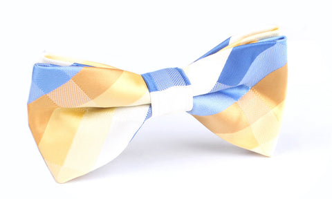Sandy Chekered Bow Tie