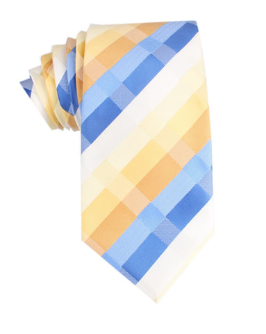 Sandy Checkered Necktie
