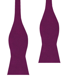 Sangria Purple Weave Self Bow Tie
