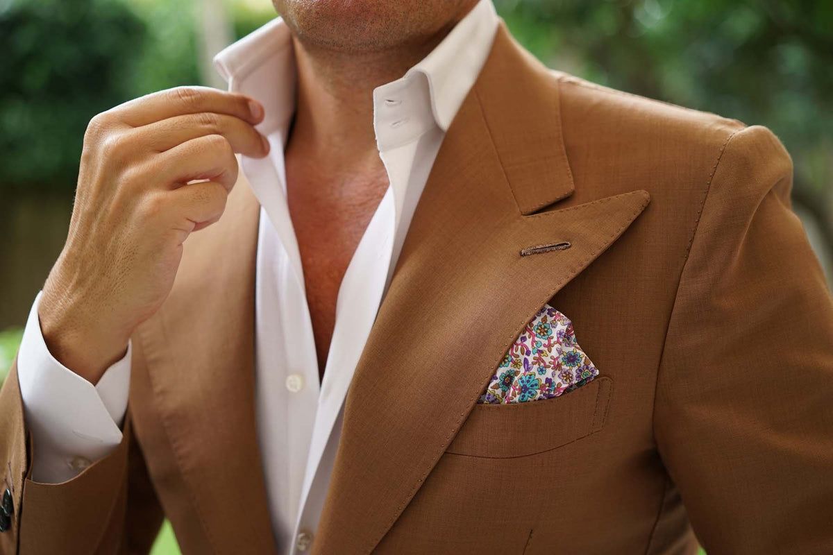Sant Apollinare Floral Pocket Square