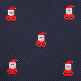 Santa Claus Pixel Self Bow Tie Fabric