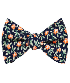 Santo Domingo Floral Self Bow Tie