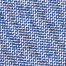 Santorini Blue Zig Zag Linen Pocket Square