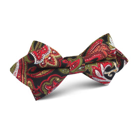 Sao Paulo Paisley Red Diamond Bow Tie