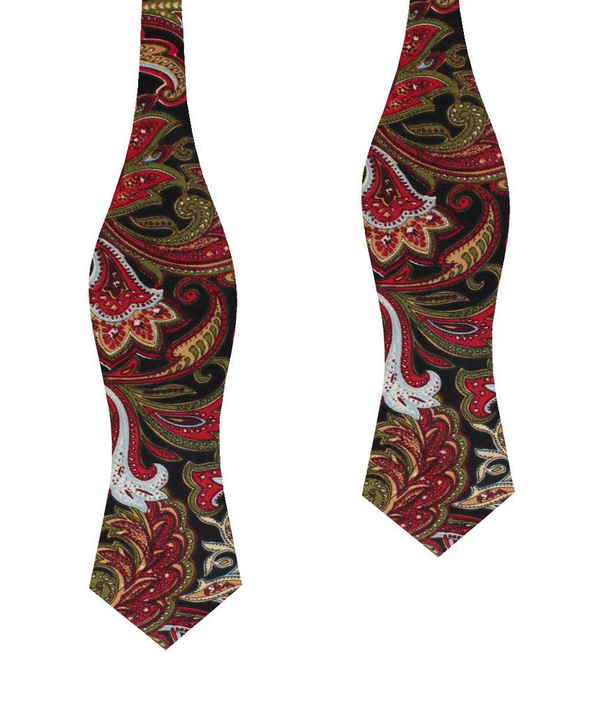 Sao Paulo Paisley Red Diamond Self Bow Tie