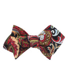Sao Paulo Paisley Red Diamond Self Bowtie