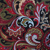 Sao Paulo Paisley Red Fabric Pocket Square