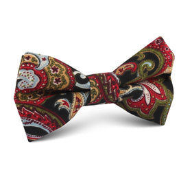 Sao Paulo Paisley Red Kids Bow Tie