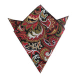 Sao Paulo Paisley Red Pocket Square