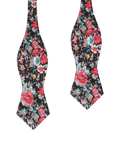 Sardinia Bloom Floral Diamond Self Bow Tie